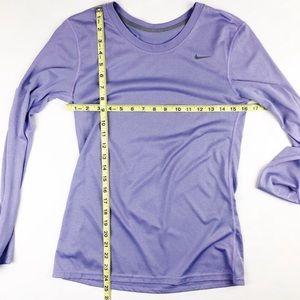 Nike Dri Fit long sleeve lavender shirt small